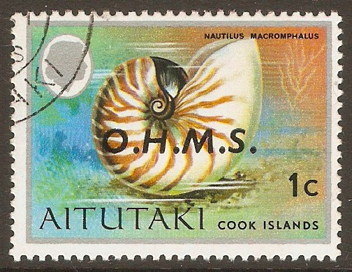 Aitutaki 1978 1c Official Stamp. SGO1.
