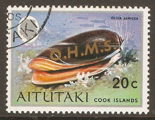 Aitutaki 1978 20c Official Stamp. SGO10.