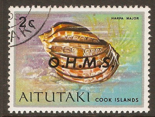 Aitutaki 1978 2c Official Stamp. SGO2.