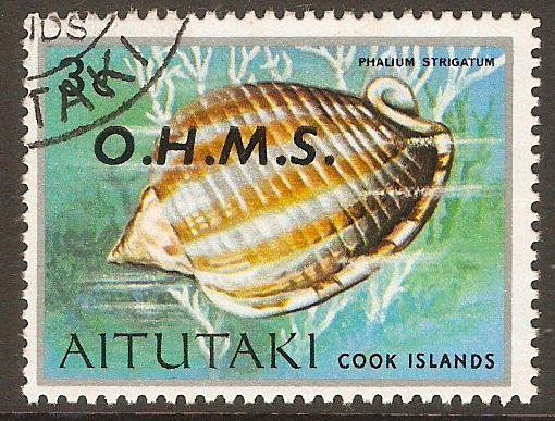 Aitutaki 1978 3c Official Stamp. SGO3.