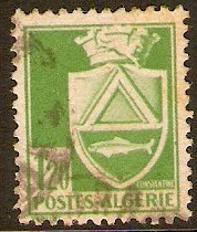 Algeria 1942 1f.20 Yellow-green - Arms Series. SG183.