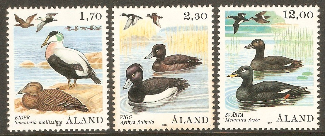Aland Islands 1987 Birds set. SG25-SG27.