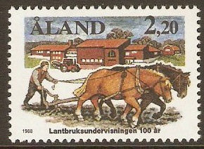 Aland Islands 1988 2m.20 Agricultural Education Anniversary. SG3