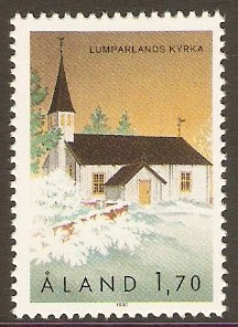 Aland Islands 1990 1m.70 St. Andrew's Church. SG44.
