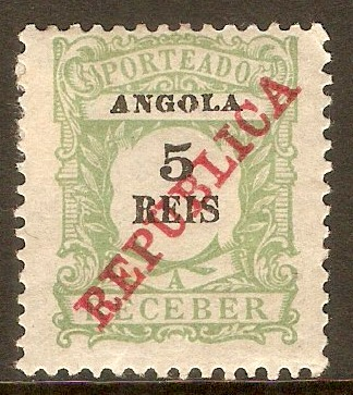 Angola 1911 5r Yellow-green Postage Due. SGD166.