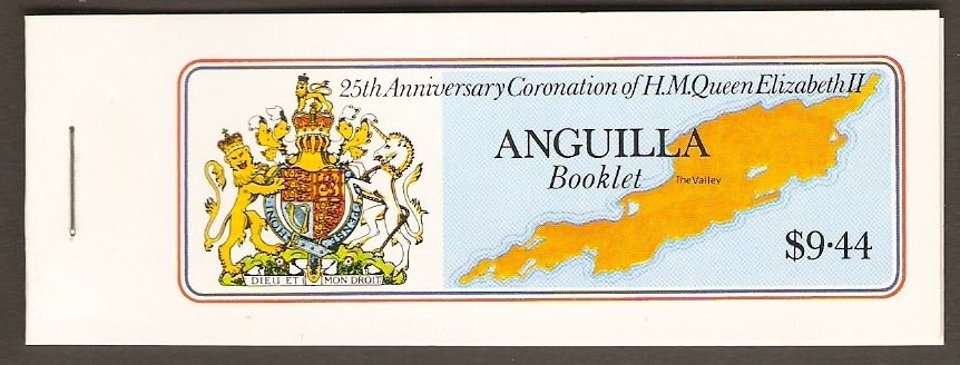 Anguilla 1978 Coronation Anniv. Set Stamp booklet. SG320-SG323.