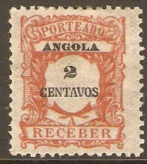Angola 1921 2c Deep red-brown - Postage Due. SGD345.