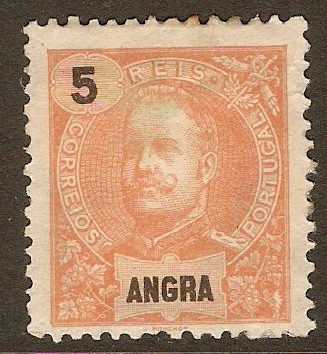 Angra 1897 5r Orange-red. SG29.