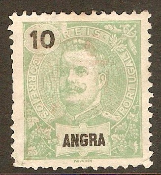 Angra 1897 10r Yellow-green. SG30.