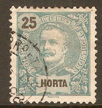 Horta 1897 25r Blue-green. SG33.