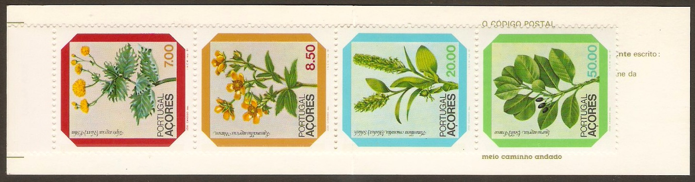 Azores 1981 Flowers Stamp Booklet. SG430a.