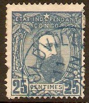 Ind. State of the Congo 1887 25c Dull blue. SG9