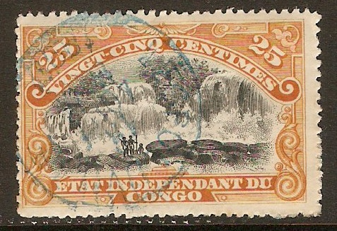 Ind. State of the Congo 1894 25c Black and orange. SG20.