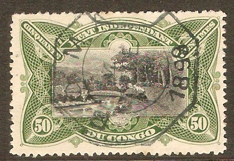Ind. State of the Congo 1894 50c Black and green. SG21.