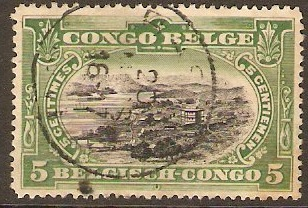 Belgian Congo 1910 5c Black and green. SG60a.