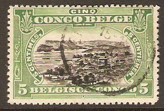 Belgian Congo 1915 5c Black and green. SG70.