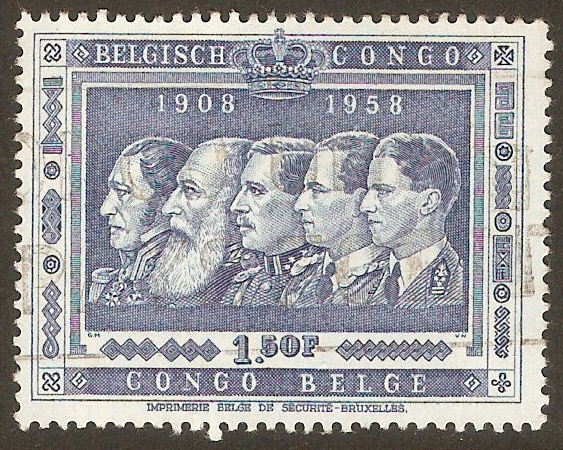 Belgian Congo 1958 1f.50 Annexation Anniversary series. SG334.