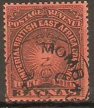 British East Africa 1890 3a Black on dull red. SG8.