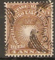 British East Africa 1890 4a Yellow-brown. SG9.