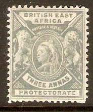British East Africa 1896 3a Grey. SG69.