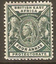 British East Africa 1896 4a Deep green. SG70.