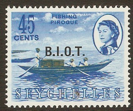 British Indian Ocean Territory 1968 45c B.I.O.T. Overprint. SG7