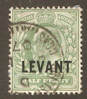 British Levant 1905 ½d Pale yellowish green. SGL1.