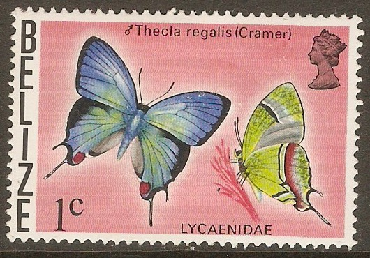 Belize 1974 1c Butterflies series. SG381.