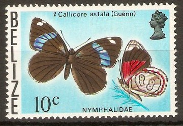 Belize 1974 10c Butterflies series. SG386.