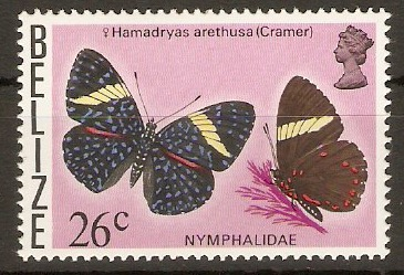 Belize 1974 26c Butterflies series. SG390.