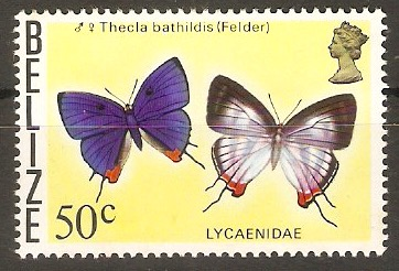 Belize 1974 50c Butterflies series. SG391.