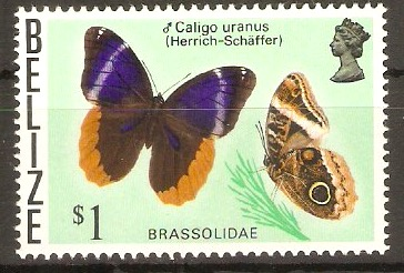 Belize 1974 $1 Butterflies series. SG392.