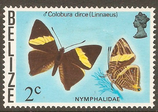 Belize 1974 2c Butterflies series. SG405.
