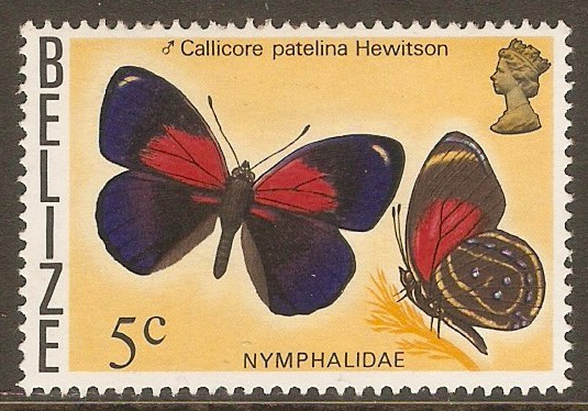 Belize 1974 5c Butterflies series. SG408.
