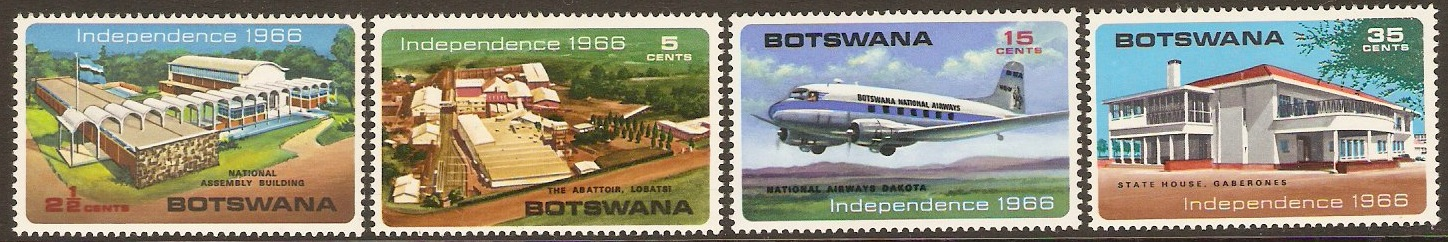 Botswana 1966 Independence Set. SG202-SG205.