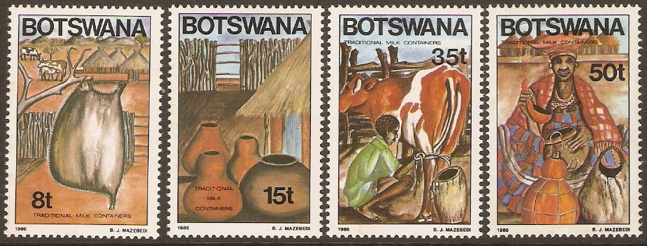 Botswana 1986 Traditional Milk Containers Set. SG599-SG602.