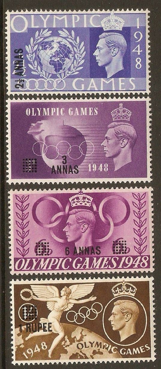 B.P.O.'s in Eastern Arabia 1948 Olympic Games set. SG27-SG30.