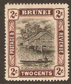 Brunei 1908 2c Black and brown. SG36.