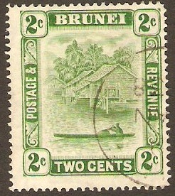 Brunei 1924 2c Green. SG62.
