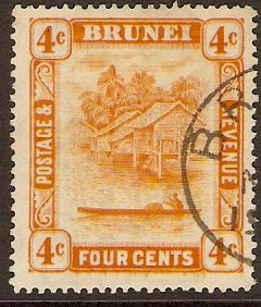 Brunei 1924 4c Orange. SG65.
