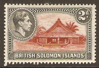 British Solomon Islands 1939 2d Orange-brown and black. SG63.