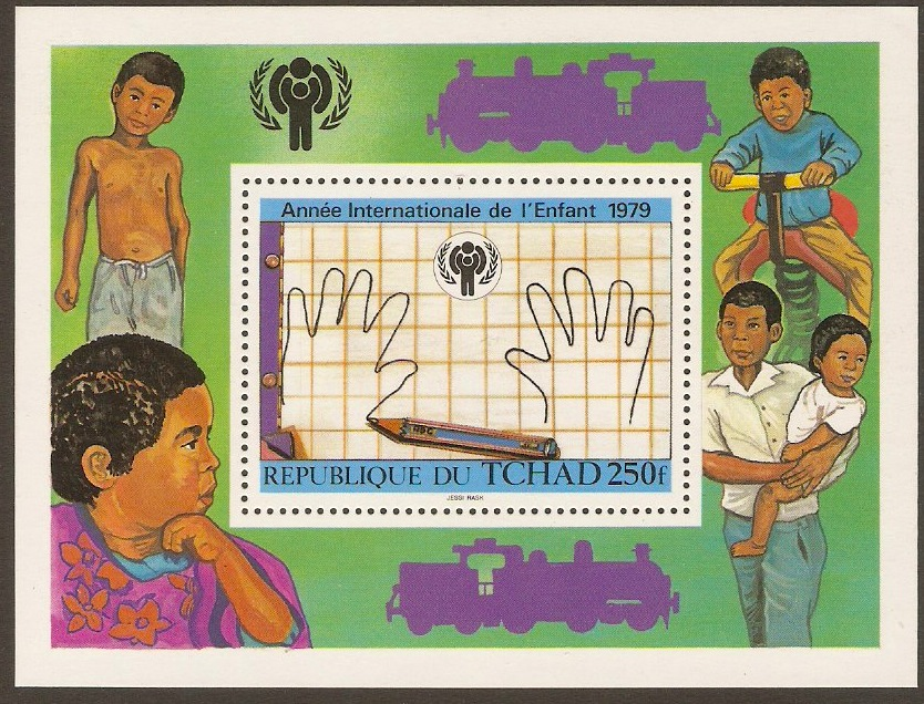 Chad 1979 Year of the Child Sheet. SGMS565.