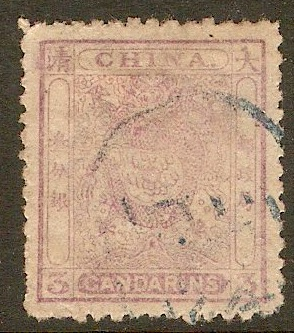China 1885 3ca Mauve. SG11.