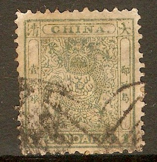 China 1885 1ca Dull green. SG13a.