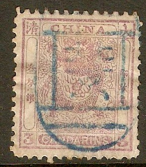 China 1885 3ca Mauve. SG14.