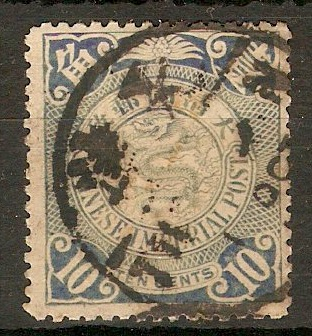 China 1905 10c Dull blue. SG156a.