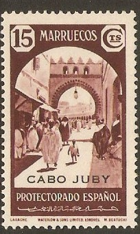 Cape Juby 1939 15c Maroon. SG107.