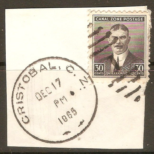 Canal Zone 1928 30c Black. SG115.
