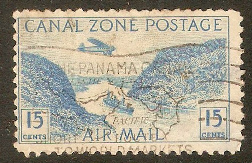 Canal Zone 1931 15c Blue. SG130.