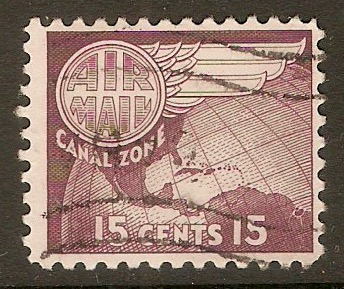 Canal Zone 1951 15c Maroon. SG204.